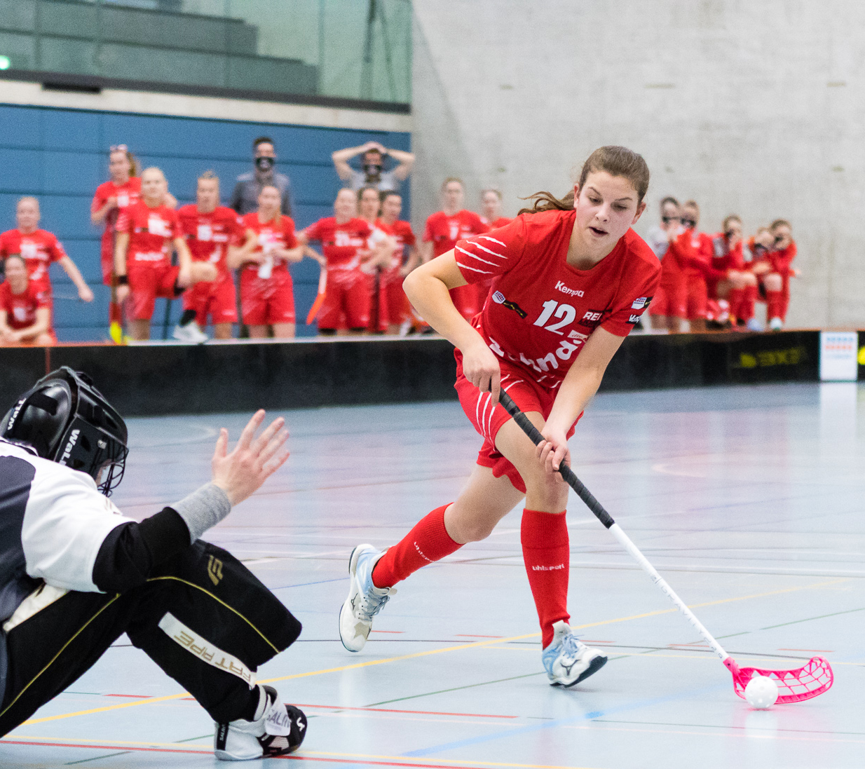 Dieses Wochenende im U18-Nati-Trainingscamp in Schaffhausen: NLA-Spielerin Seraina Fitzi